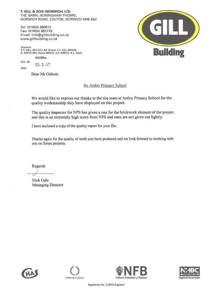 Gill Building Letter