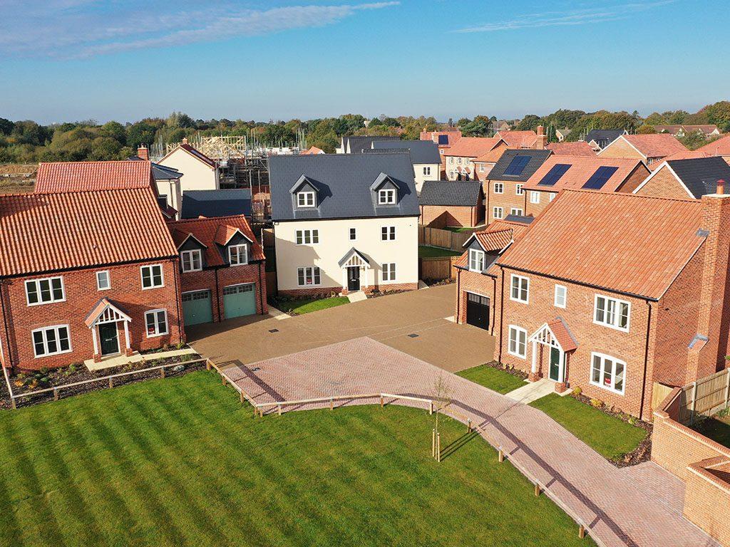 Heath Farm, Holt from above
