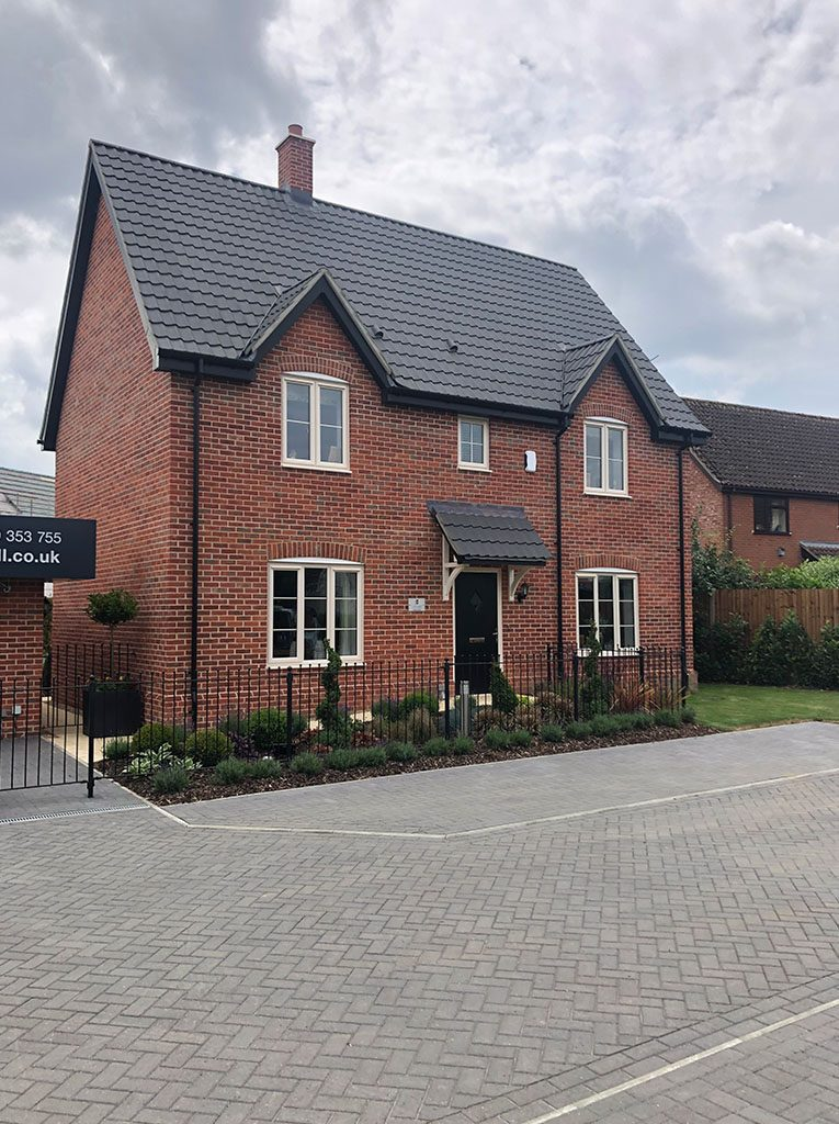 Showhome Exterior at St Mary's View, Gislingham